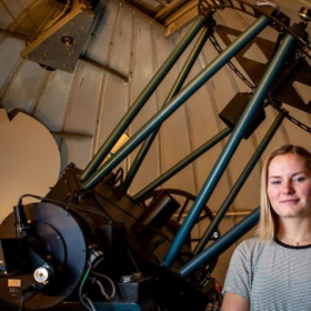 Working with a Dobsonian telescope in New Hampshire as part of an Advanced Studies Project