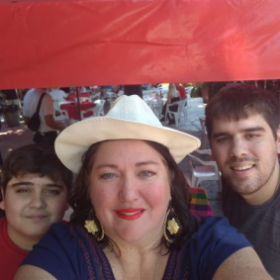 With my two sons in Mexico!