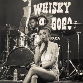Paloma performs a ballad at the Whisky A GoGo in Los Angeles, CA