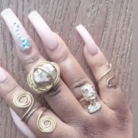 Gold Wire rings