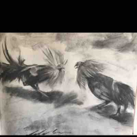 Fight.  Charcoal.