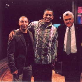 Left to Right - Ralph Moore of the Tonight Show Band, me, Jay Leno.