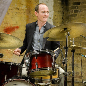 Playing live with my jazz quartet, Lucas Gillan's Many Blessings, at the Jazz Record Art Collective in Chicago.
