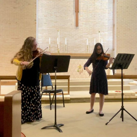 Performing in a recital with one of my students!