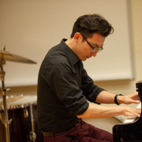 Performing my solo piano piece, Parallax, at Fresh Inc. Festival in Wisconsin.