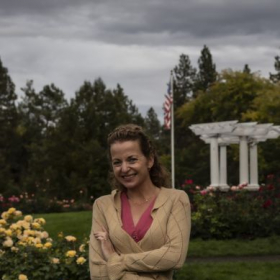 I enjoy visiting the rose garden in one of our beautiful city parks in Spokane, WA.