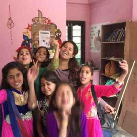 My students in India