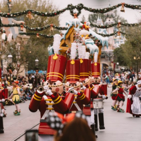 Marching down Main Street Disney as a Toy Soldier!