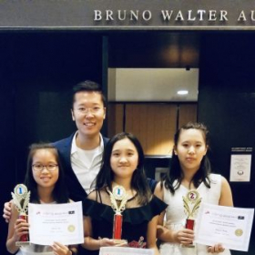 My students Allyson Ho, Shaoyu Wnag won the 1st and 2nd prize during the Global Talent Contest where hold in Lincoln Center.