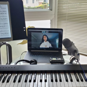Online lesson. Working on Beauty and the Beast song