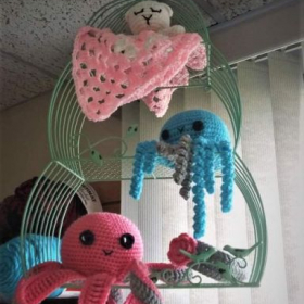 Don't you just love these amigurumi animals? You can learn how to make these by signing up for crochet lessons with me!