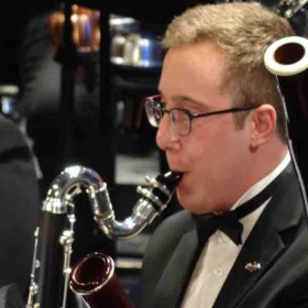 I forget why I look so focused on this shot during a concert performance for the Troy University Symphony Band.