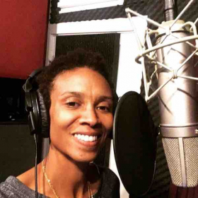 Recording vocal for a fun session in Los Angeles!