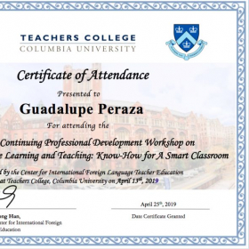 Mobile Language Learning and Teaching Certificate. Teachers College Columbia University, NY