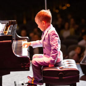 Piano Recital, 3 years old student