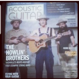Grateful to have been featured on the cover of Acoustic Guitar magazine.