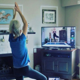 Virtual Yoga is easy to access and safe to practice from home.