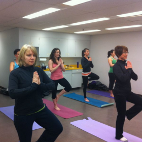 Corporate Yoga reduces stress, boosts morale and is a great team building exercise.