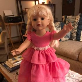 Homemade prom dress for American girl doll