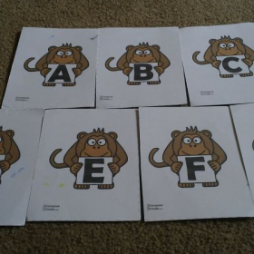 Monkey Musical Alphabet from ComposeCreate.com. So much fun for any age.