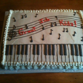 And now that the recital is over; let's eat cake!