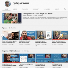 My Youtube channel is designed to help people learn languages, and I currently have over 14,000 subscribers.