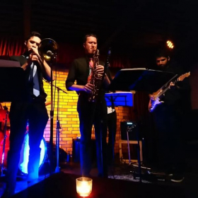 The Music Munks performing our first international gig at the Tijuana Jazz Club