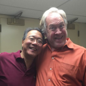Yo yo Ma with Mr.  Anderson after a dress rehearsal in October of 2015.
