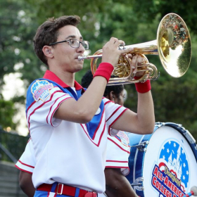 Performing as a member of the 2016 Disneyland All-American College Band!