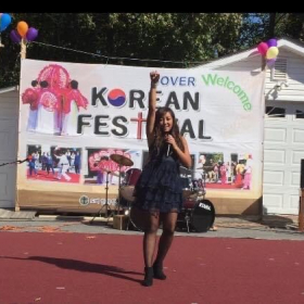 """2016 Dover Korean Festival  Adeline Cho sings and dances T-ara """"Cry Cry"""""""