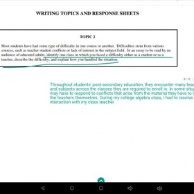 CBEST writing section test prep: How to write an introductory paragraph for a personal narrative essay