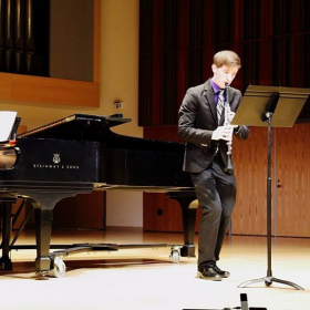 Performing Nielsen's Clarinet Concerto during my senior recital at Ithaca College School of Music in 2016