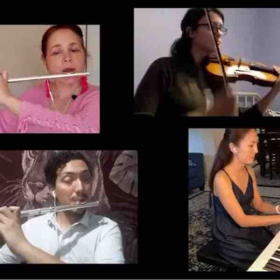 With my colleagues from US and Guatemala made an online concert while on quarantine