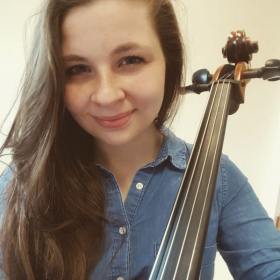 Practicing cello is one of my favorite pastimes!