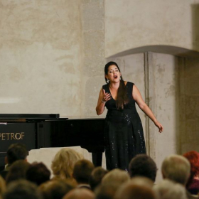 Singing during the Gabriel Beňačková International Competition