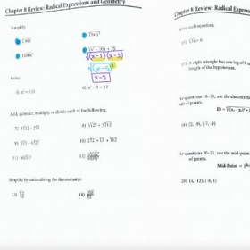 Example of an online math lesson using the student's homework.