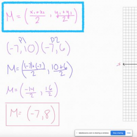 Example of an online math lesson