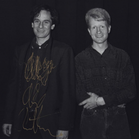 With the late Alex Chilton in 1997 after a performance.