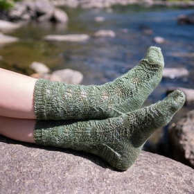 I love knitting socks! Here are my Treeometry Socks.