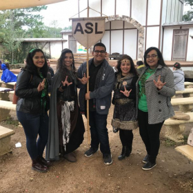 This was during a Renaissance Festival where we got to observe certified ASL interpreters!