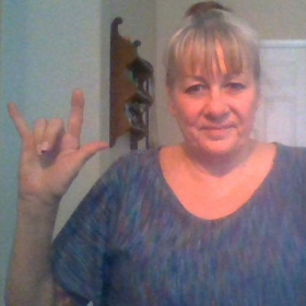 """In American Sign Language, ASL, this is the """"I love you"""" sign."""