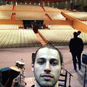 About to perform in the Maestranza Theatre in Seville, Spain.2018.