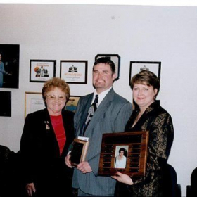 Me getting the Judy Goodwin Teacher of the year award