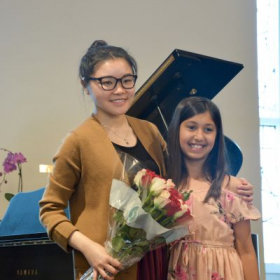 Miss Molly with her student after recital