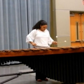 Me playing 4 mallet marimba