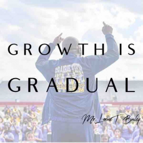 Growth is a daily journey. Success is not made in the microwave but cooked on the stove!