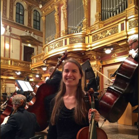 Performing at the Musikverein in Vienna, Austria with the Chicago Symphony Orchestra