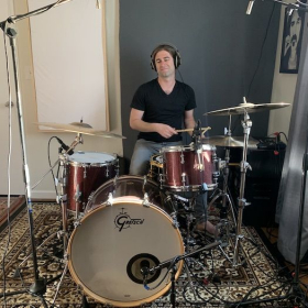 Along with lessons, I have a professional recording setup that I use to produce drum tracks!