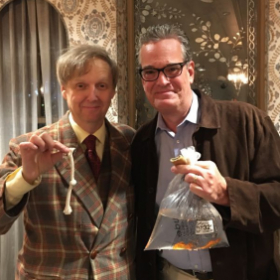 With Vegas headliner and top comedy magician Mac King in my hometown in CT. 2019. And while he kept the rope, I still have his goldfish.
