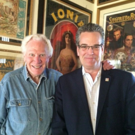 With Magic legend Norm Nielson in his Las Vegas home 2015. We miss you, Norm: RIP.